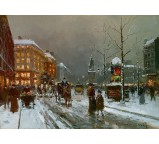Place de Clichy in Winter