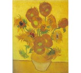 Vase with fifteen sunflowers1 1888