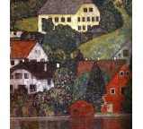 Houses in Unterach on the Attersee-1916