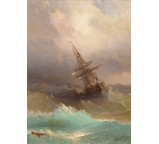 A Ship in the Stormy Sea-1887