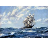 The Clipper Ship Blue Jacket On Choppy