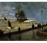 The Jetty at Le Havre in Rough Westher