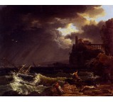A Shipwreck In A Stormy Sea By The