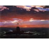 Beacon off Mount Desert Island