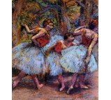 Three Dancers - Yellow Skirts, Blue Blouses