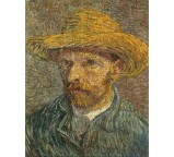 Self Portrait with Straw Hat